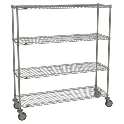 Metro (InterMetro) / Emerson - 1860NC-4 63UP-4 5MP-4 - 60L x 18W x 67-7/8H Chrome Steel Wire Cart, 900 lb. Load Capacity