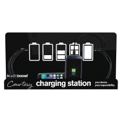 Kwikboost - KB-M8TS-WMB - 18 x 4 x 9 Cell Phone Charging Station Compatible With Most Major Cell Phones
