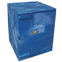 Eagle Mfg - M04CRA - Eagle M04CRA Modular Quik-Assembly Safety Cabinet Top, 4 Gal., 1 Door, 2 Shelves - Blue