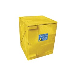 Eagle Mfg - M04Y - Eagle M04Y Modular Quik-Assembly Safety Cabinet Top, 4 Gal., 1 Door, 2 Shelves - Yellow