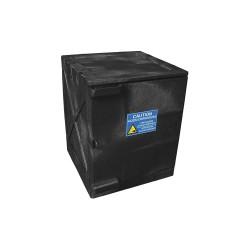 Eagle Mfg - M04BLK - Eagle M04BLK Modular Quik-Assembly Safety Cabinet Top, 4 Gal., 1 Door, 2 Shelves - Black