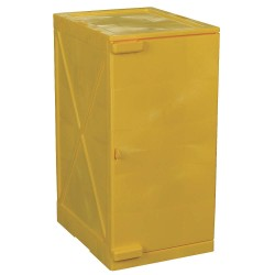 Eagle Mfg - M12Y - Eagle M12Y Modular Quik-Assembly Safety Cabinet, 12 Gal., 1 Door, 2 Shelves - Yellow