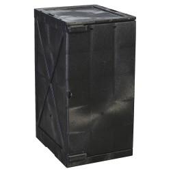Eagle Mfg - M12BLK - Eagle M12BLK Modular Quik-Assembly Safety Cabinet, 12 Gal., 1 Door, 2 Shelves - Black