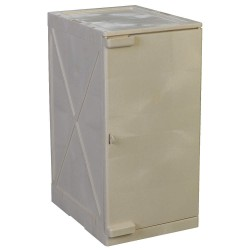 Eagle Mfg - M12BEI - Eagle M12BEI Modular Quik-Assembly Safety Cabinet, 12 Gal., 1 Door, 2 Shelves - Beige