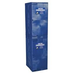 Eagle Mfg - M24CRA - Eagle M24CRA Modular Quik-Assembly Safety Cabinet, 24 Gal., 2 Doors, 4 Shelves - Blue