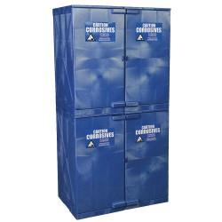 Eagle Mfg - M48CRA - Eagle M48CRA Modular Quik-Assembly Safety Cabinet, 48 Gal., 4 Doors, 8 Shelves - Blue