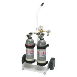 Honeywell - 731250 - Air Cylinder Cart, Blk, Steel