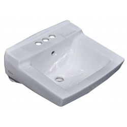 American Standard - 0321075.020 - Vitreous China Wall Bathroom Sink Without Faucet, 14-1/4 x 10-3/4 Bowl Size