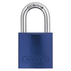 ABUS - 09182 - Blue Keyed Padlock, Different Key Type, Aluminum Body Material