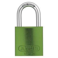 ABUS - 09184 - Green Keyed Padlock, Different Key Type, Aluminum Body Material