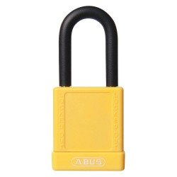 ABUS - 19604 - Yellow Lockout Padlock, Different Key Type, Master Keyed: No, Aluminum Body Material