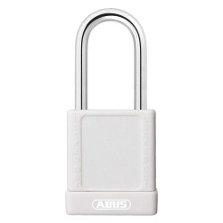 ABUS - 19629 - White Lockout Padlock, Different Key Type, Master Keyed: No, Aluminum Body Material