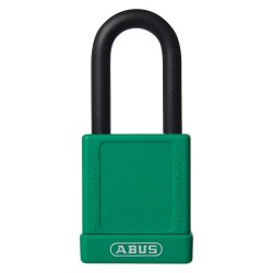 ABUS - 19661 - Green Lockout Padlock, Different Key Type, Master Keyed: No, Aluminum Body Material