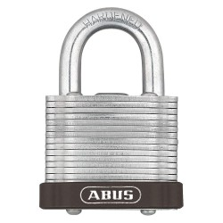 ABUS - 19329 - Different-Keyed Padlock, Open Shackle Type, 2 Shackle Height, Brown