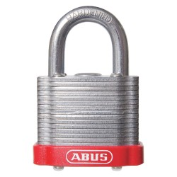 ABUS - 19343 - Alike-Keyed Padlock, Open Shackle Type, 2 Shackle Height, Red
