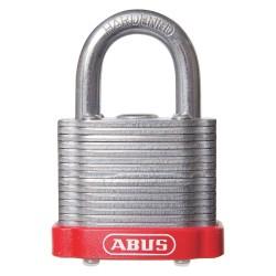 ABUS - 19343 - Alike-Keyed Padlock, Open Shackle Type, 2 Shackle Height, Red