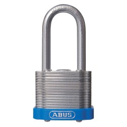 ABUS - 19351 - Different-Keyed Padlock, Open Shackle Type, 3 Shackle Height, Blue