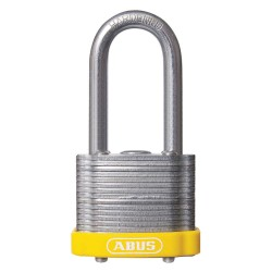 ABUS - 19353 - Different-Keyed Padlock, Open Shackle Type, 3 Shackle Height, Yellow