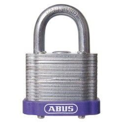 ABUS - 19334 - Alike-Keyed Padlock, Open Shackle Type, 3/4 Shackle Height, Purple
