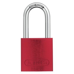 ABUS - 19347 - Different-Keyed Padlock, Open Shackle Type, 1-1/2 Shackle Height, Red