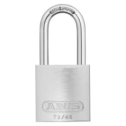 ABUS - 19378 - Different-Keyed Padlock, Open Shackle Type, 1 Shackle Height, Silver