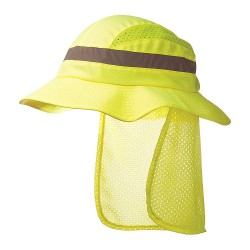 Bon-Mar - SCARAB1YLW - Yellow Inner ABS Polymer, Outer Polyester Bump Cap, Style: Full Brim, Fits Hat Size: 7 to 7-3/4