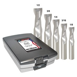 Monster Tool - 204-888881 - 1/8- 1/2 Fractional Inch Square End Mill Set, Number of Pieces: 5