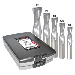 Monster Tool - 204-888882 - 1/8- 1/2 Fractional Inch Square End Mill Set, Number of Pieces: 5
