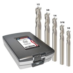 Monster Tool - 205-888881 - 1/8- 1/2 Fractional Inch Square End Mill Set, Number of Pieces: 5