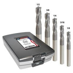 Monster Tool - 205-888882 - 1/8- 1/2 Fractional Inch Square End Mill Set, Number of Pieces: 5