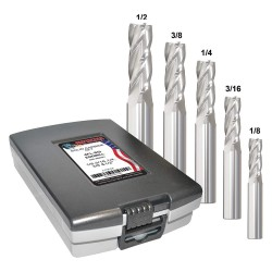 Monster Tool - 206-888881 - 1/8- 1/2 Fractional Inch Square End Mill Set, Number of Pieces: 5