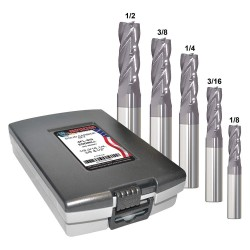 Monster Tool - 206-888882 - 1/8- 1/2 Fractional Inch Square End Mill Set, Number of Pieces: 5