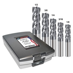 Monster Tool - 284-888882 - 1/8- 1/2 Fractional Inch Square End Mill Set, Number of Pieces: 5