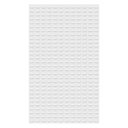 Akro-Mils / Myers Industries - 30161TEXWHT - 36 x 5/16 x 61 Louvered Panel with 1000 lb. Load Capacity, White