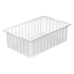 Akro-Mils / Myers Industries - 33165SCLAR - Divider Box, Clear, 5H x 16-1/2L x 10-7/8W, 1EA