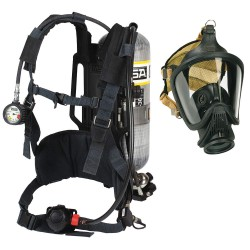 MSA - 10095805 - MSA AirHawk II 2216 psig Industrial Low Pressure Supplied Air Respirator System With Medium Hycar Rubber Advantage 4000 Facepiece, Rubber Head Harness, Nylon Harness With Chest Strap And 30 Minute Aluminum Cylinder (Without Case), ( Each