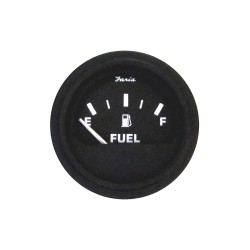 Faria Beede Instruments - GP0707 - 2 Black Aluminum Fuel Gauge with 2-1/16 (53mm) Mounting Hole