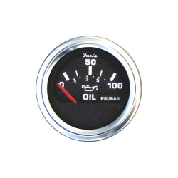 Faria Beede Instruments - GP0802 - 2 Stainless Steel Engine Oil Pressure Gauge with 2-1/16 (53mm) Mounting Hole