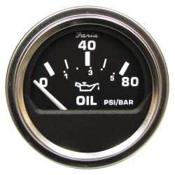 Faria Beede Instruments - GP0830 - 2 Stainless Steel Engine Oil Pressure Gauge with 2-1/16 (53mm) Mounting Hole