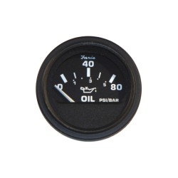 Faria Beede Instruments - GP0829 - 2 Black Aluminum Engine Oil Pressure Gauge with 2-1/16 (53mm) Mounting Hole