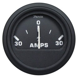 Faria Beede Instruments - AP0530 - 2 Black Aluminum Engine Ammeter Gauge with 2-1/16 (53mm) Mounting Hole