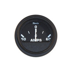 Faria Beede Instruments - AP0526 - 2 Black Aluminum Engine Ammeter Gauge with 2-1/16 (53mm) Mounting Hole