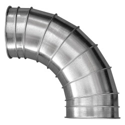 Nordfab - 3210-0590-105000 - Elbow, 60 deg., 24 Ga., 8-7/8in.L, GalvSteel