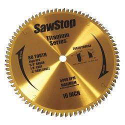 SawStop - BTS-P-80HATB - SawStop BTS-P-80HATB 10-Inch 80-TPI Titanium Premium Woodworking Saw Blade