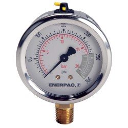 "Enerpac - G2512L - 2-1/2"" General Purpose Pressure Gauge, 0 to 300 psi"