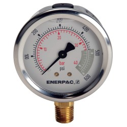"Enerpac - G2513L - 2-1/2"" General Purpose Pressure Gauge, 0 to 600 psi"