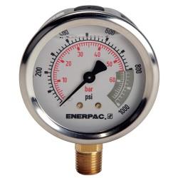 """Enerpac - G2514L - 2-1/2"""" General Purpose Pressure Gauge, 0 to 1000 psi"""
