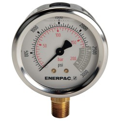 "Enerpac - G2516L - 2-1/2"" General Purpose Pressure Gauge, 0 to 3000 psi"