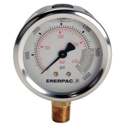 "Enerpac - G2517L - 2-1/2"" General Purpose Pressure Gauge, 0 to 6000 psi"