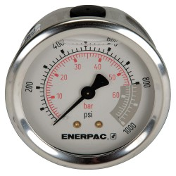 "Enerpac - G2531R - 2-1/2"" General Purpose Pressure Gauge, 0 to 1000 psi"